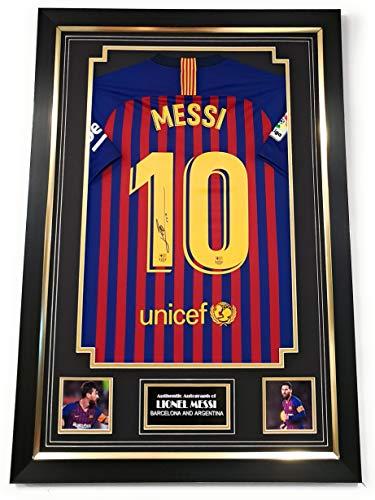 NIEUWE Lionel Messi van Barcelona SIGNED shirt *AFTALE DEALER COA*