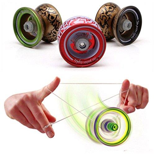 Caxmtu 1 pièce Magic Yo-yo à roulement à billes, jouet, en alliage de métal, pour garçons, cadeau