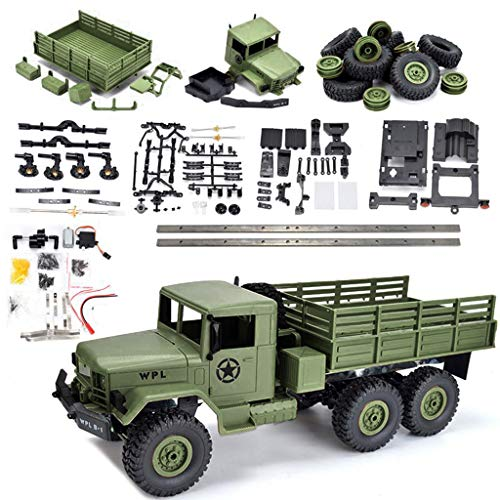 EAPTS WPL B-16 KIT 1/16 2.4G 6WD Crawler Off Road RC Car Set & Light Without Electric Parts DIY Assembly Models