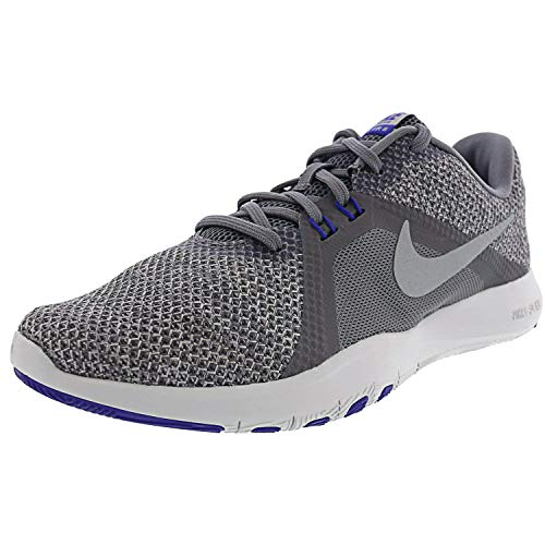 Nike Damen Nike #39;s Flex Trainer 8 Cross gunsmoke metallic silver atmosphäre grau 6.5 uk