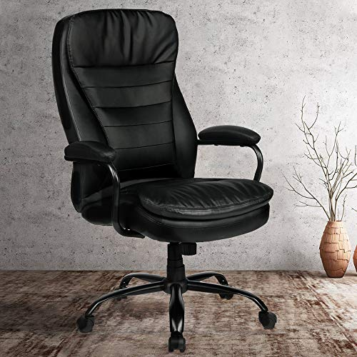 Amolife Big and Tall Office Chair/Heavy Duty Executive Computer Chair/Adjustable Desk Chair/Large Home Office Chair