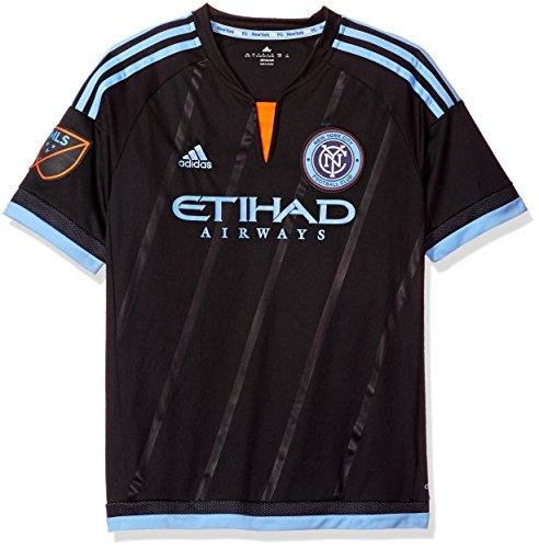 MLS New York City FC - Camiseta de Manga Corta para niños, Talla Grande, Color Negro