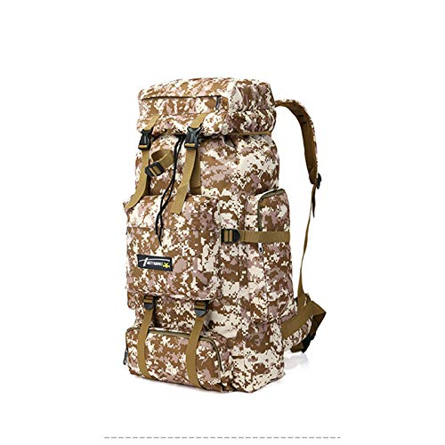 GAOJIN Military Tactical Backpack,70L Large Capacity Waterproof Outdoor Sports Camouflage Backpack for Men Waterproof Military Camping Rucksack Travel Daypack,C