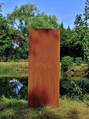 Gartenwand Sichtschutz Blanko rost Stahl 75x195 cm