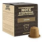 Note D'Espresso Capsule Compatibili con Sistema Nespresso, Ginseng, 40 caps