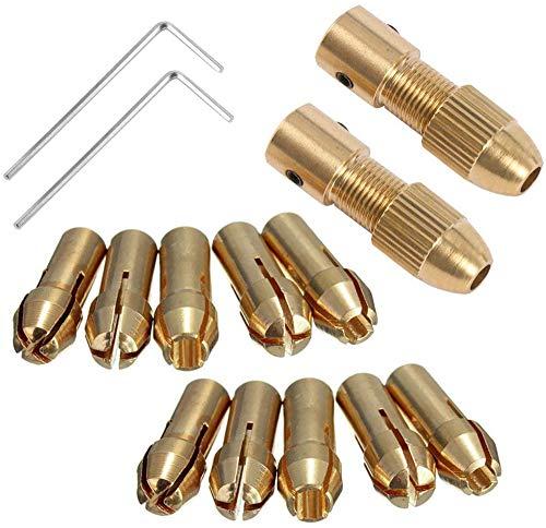 Broca eléctrica pequeña Collet Broca Micro Twist Drill Chuck Set Motor Eje...