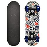 Rude Boyz 17 Inch Mini Wooden Cruiser Graphic Beginner Skateboard (Rude Boyz Design)