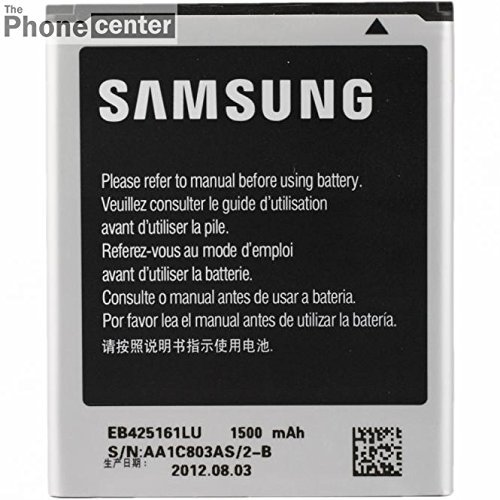TBC© EB425161LU Samsung Original Batteria per Samsung Galaxy Ace 2 i8160, Trend (S7560), Trend Plus, S7580, S3 mini (i8190), 1500mAh, Bulk