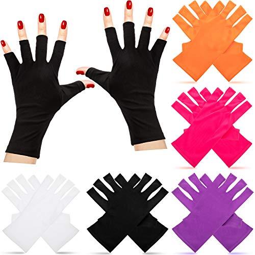 5 Guantes de Uñas Guantes sin Dedos para Manicura de Gel Manoplas de Uñas Accesorios de Belleza de Proteger Mano de Salón de Lámparas LED para Secado de Esmalte de Uñas de Gel, 5 Colores