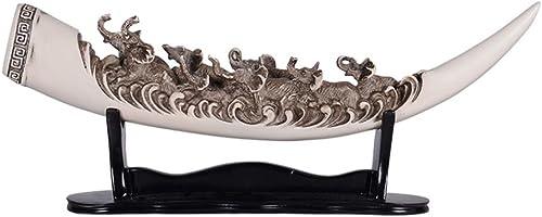 en venta en línea Jingtaohailang Ornamento de Regalo Decoraciones Decoraciones Decoraciones para el hogar Adornos de Resina de Marfil Creativo Retro Artesanía Salón Muebles de Oficina (Color   49  9  20CM)  Todos los productos obtienen hasta un 34% de descuento.