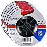 Makita 5 Pack - 4.5' Grinding Wheel For Grinders - Aggressive Grinding For Metal - 4-1/2 x 1/4 x 7/8-Inch