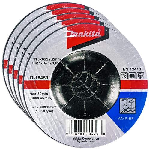 Makita 5 Pack - 4.5' Grinding Wheel For...