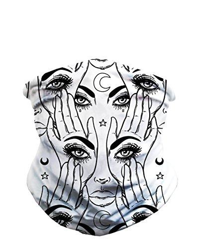 iHeartRaves Eye See You Multi-Functional Seamless Face Mask Bandana