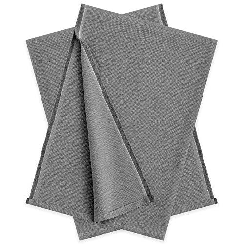 Vipalia - Pack 2 Plaid Sofa. Mantas para Cama. Fundas para Sofa Chaise Longue. Colcha Cama 150 cm o Sofa Cama. Foulard Cubre Sofa Plaid Multiusos Cubre Cama Modelo Liso 230 x 260 cm Color Gris Oscuro