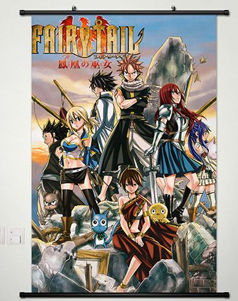 Fairy Tail Wall Scroll Poster Fabric Painting for Anime Key Roles 111 S