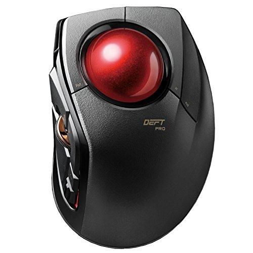 エレコム マウス 有線/ワイヤレス/Bluetooth トラックボール人差指 中型ボール 8ボタン チルト機能 ブラック M-DPT1MRXBK