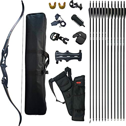 D&Q Takedown Recurve Bow Set Adult Kit Archery Hunting Shooting Target...