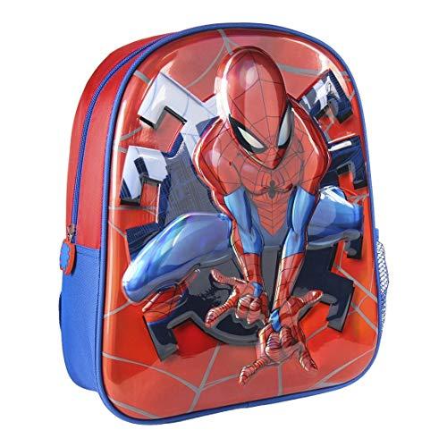 Cerdá, Mochila Infantil 3D Premium Metalizada Spiderman Unisex niños, Multicolor, 26.0 X 31.0 X 10.0 CM