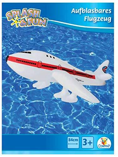 Splash & Fun Aufblasbares Flugzeug, 29 x 75.5 x 77 cm