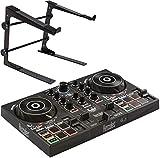 Hercules DJControl Inpulse 200 DJ Controller 2-Deck + keepdrum HALS-10 Laptopständer