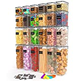 Airtight Food Storage Container Set, 24pcs Plastic Canisters with...