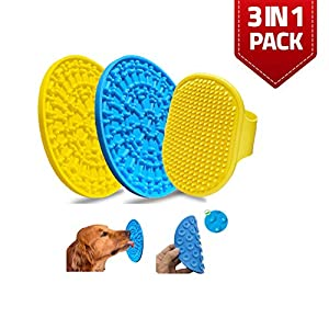 SIMYAH Dog Lick Mat Grooming Brush – Bathing Lick Mat for Dogs Bath Scrubber Licking Pad for Dog Wash with Strong Suction Grooming Dog Bathing and Slow Feeder Dog Trainer