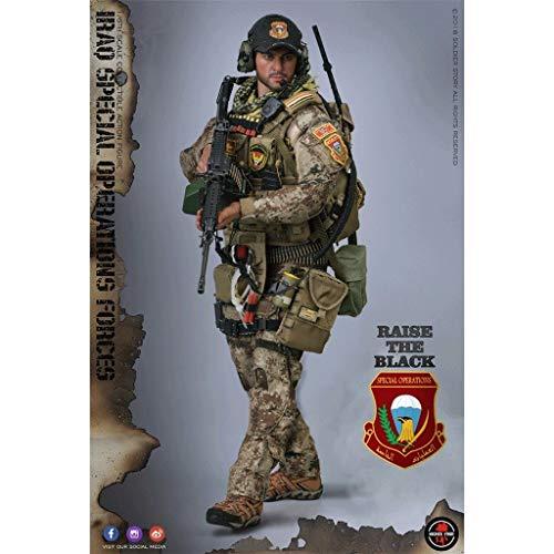 YYBB 1/6 Maßstab Soldat Spielzeug Irakische Spezialeinheiten MG-Schütze Soldat Action-Figuren PVC Military Model Collection Spielzeug Mech Modell Male Geschenk Figurines