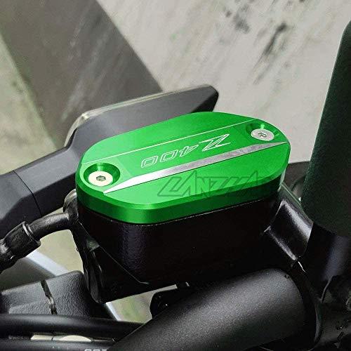 QYA Praktisches Motorrad-Zubehör for Kawasaki Z400 2019 und Up Motorrad CNC Aluminiumfrontbremsbehälterfluidtank Oil Cup-Abdeckungs-Schutz Modified Zubehör, Robustes Material,