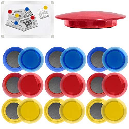 18 x Magnete Rund 40mm Kühlschrankmagnete Magnet für Whiteboard, Pinnwand, Magnettafel, Kühlschrank extra Stark und schön Magnete Büro Magnet Pinnwandmagnete Büromagnete Kühlschrank