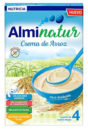 Alminatur Papilla de crema de arroz a partir de los 4 meses Paquete de 7 x 250 g Total: 1.75 kg