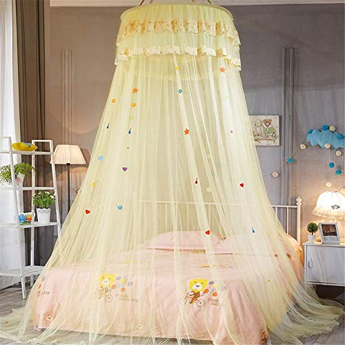 Zerodis Filet de moustiquaire Ciel de lit mince Filet Permet Breeze dans la nature en dehors Shield /él/égante Chambre /à coucher D/écor Installation rapide et facile sans produits chimiques
