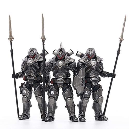 LYCH 1/18 Soldat Actionfigur, 3Pcs Action Figuren Modell Beweglich Figuren von 01st Legion Stahlspeer Soldat Soldat Modell Spielzeug