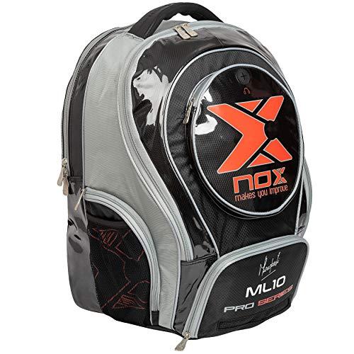NOX ML10 Pro Series Mochila pádel  Juventud Unisex  Gris Negro Rojo  50 35 20 cm