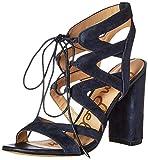 Sam Edelman Women's Yardley Heeled Sandal, Inky Navy, 5.5 M US