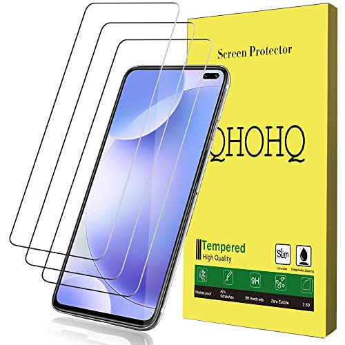 [3-Pack] QHOHQ Screen Protector for Xiaomi Mi 10T,Xiaomi Redmi K30,[9H Hardness] HD Transparent Scratch-Resistant [Bubble Free] Tempered Glass