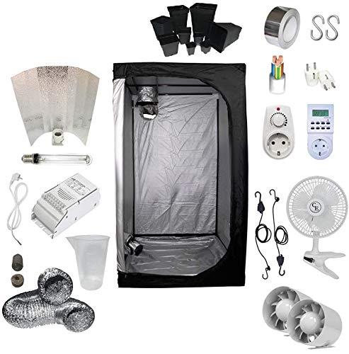 Kit de cultivo interior 400W SHP Stuko - Armario 100x100x200 - Balastro ETI 1