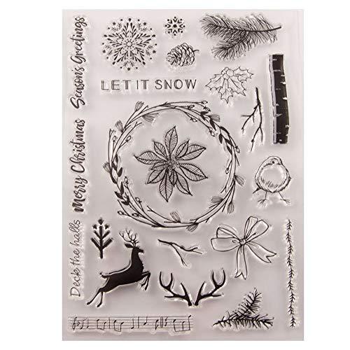 Vrolijk kerstseizoen groet sneeuwvlokken elk kerstdecoraties laat duidelijke stempels voor kerstkaarten maken decoratie en Scrapbooking rubberen stempels voor ambacht