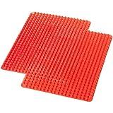 AmazonBasics Lot de 2 tapis anti-adhésifs en silicone à picots pyramidaux pour...