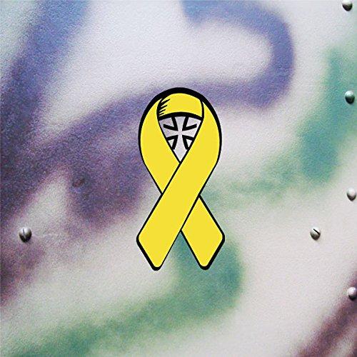 Bundeswehr Gelbe Schleife Solidarität deutsche Soldaten Bund Deutschland BW Reservisten Auslandseinsatz (schwarz-gelb, 10x5cm) - Aufkleber/Sticker #A621