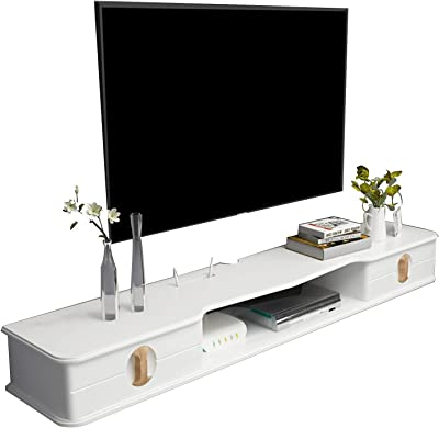Floating TV Stand Console, TV Cabinet Set-top Box, 110/130cm Media Entertainment Center (Size : 130cm)