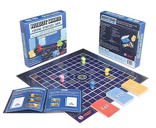 Robot Wars Coding Strategy Board Game Geeky STEM Toy - No Prior Coding Skills Required, for Kids 7...