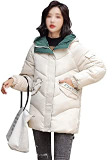 LUKEEXIN Womens Short Thicken Quilted Warm Winter Was Thin Loose Jacket