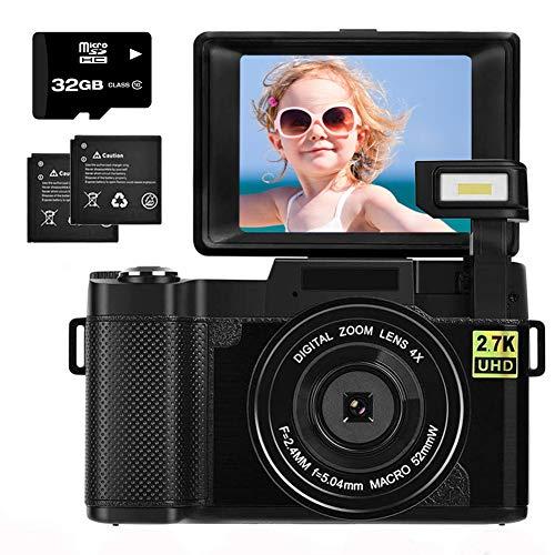 Digital Camera 2.7K 30MP with 3.0 Inch flip Screen Vlogging Camera for YouTube,...
