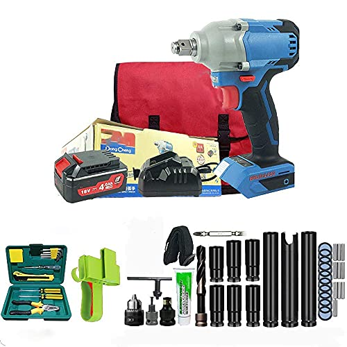 Diossad craftsman drill Cordless Impact Wrench, Electric Impact Wrench (Lithium Battery, 280Nm / Brushless / 2-Speed,) with Accessories Include Tool Bag,Wheel Bolts
