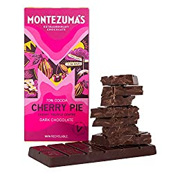 Rich dark chocolate 70% cocoa truffle bar with cherry centre Vegan and gluten-free: We're pleased to say all our chocolate is gluten-free and we also have a wide range of vegan-friendly and organic chocolates, certified by the Soil Association Eco-fr...