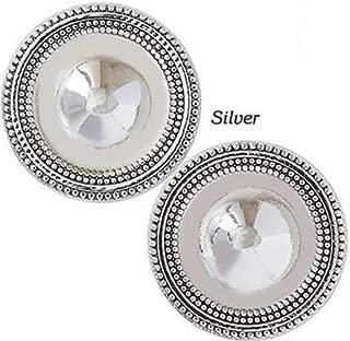 Magnet Button Antique Silver