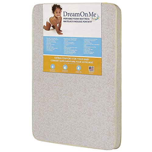Dream On Me, 3' Foam Pack and Play Mattress, White