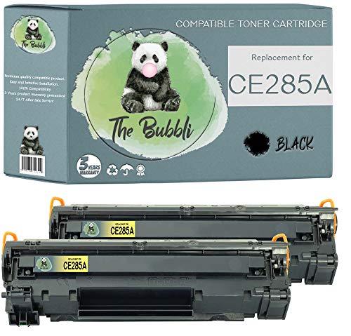 The Bubbli Original | CE285A 85A Tóner Compatible para HP Laserjet Pro P1102 P1102w P1100 M1130 M1210 M1212nf MFP M1213nf MFP M1217nfw MFP M1132 MFP M1134 MFP M1136 MFP (2 Negro)
