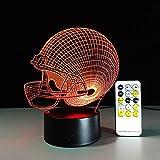 Casco de fútbol Americano Cambio de Color táctil Control Remoto Panel de luz Nocturna ilusión luz de Luna Regalo para niños lámpara de Dormitorio