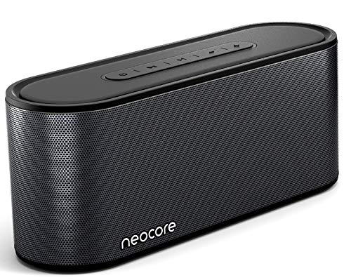 neocore Wave A3.60 Enceinte Bluetooth Portable sans Fil, 30+ Heures d'autonomie, 20 m de portée, Emplacement Carte SD 256 Go, stéréo Double Driver, Basses amplifiées avec Subwoofer, étanche